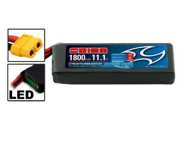 Аккумулятор Team Orion Batteries Li-Po 11,1В(3S) 1800mah 75C